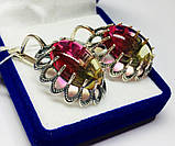 Сережки з великим цирконом срібло Жозефіна, фото 5