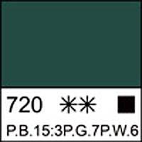 Краска акриловая художественная ЛАДОГА зеленая средняя 220 мл. ЗХК 351263 Невская палитра