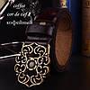 Женский кожаный ремень. Черный. Арт. 807