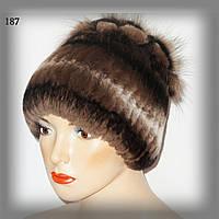 Женская меховая шапка из кролика Rex Rabbit (коричневая)