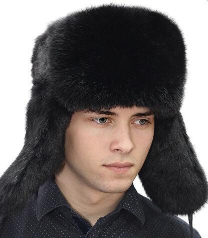 Теплые мужские шапки ушанки - искусственный мех
