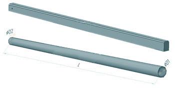 Стійки опор контактної мережі ЗБВ без гідроізоляції, без закладних елементів СС 136.7-4.1-Е