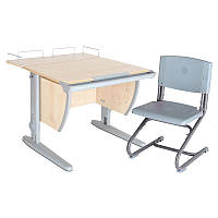"""Набор школьной мебели """"Дэми"""" СУТ.14-01 клен/серый со стулом"""