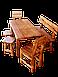 Стол из натурального дерева Кантри круглый, фото 3