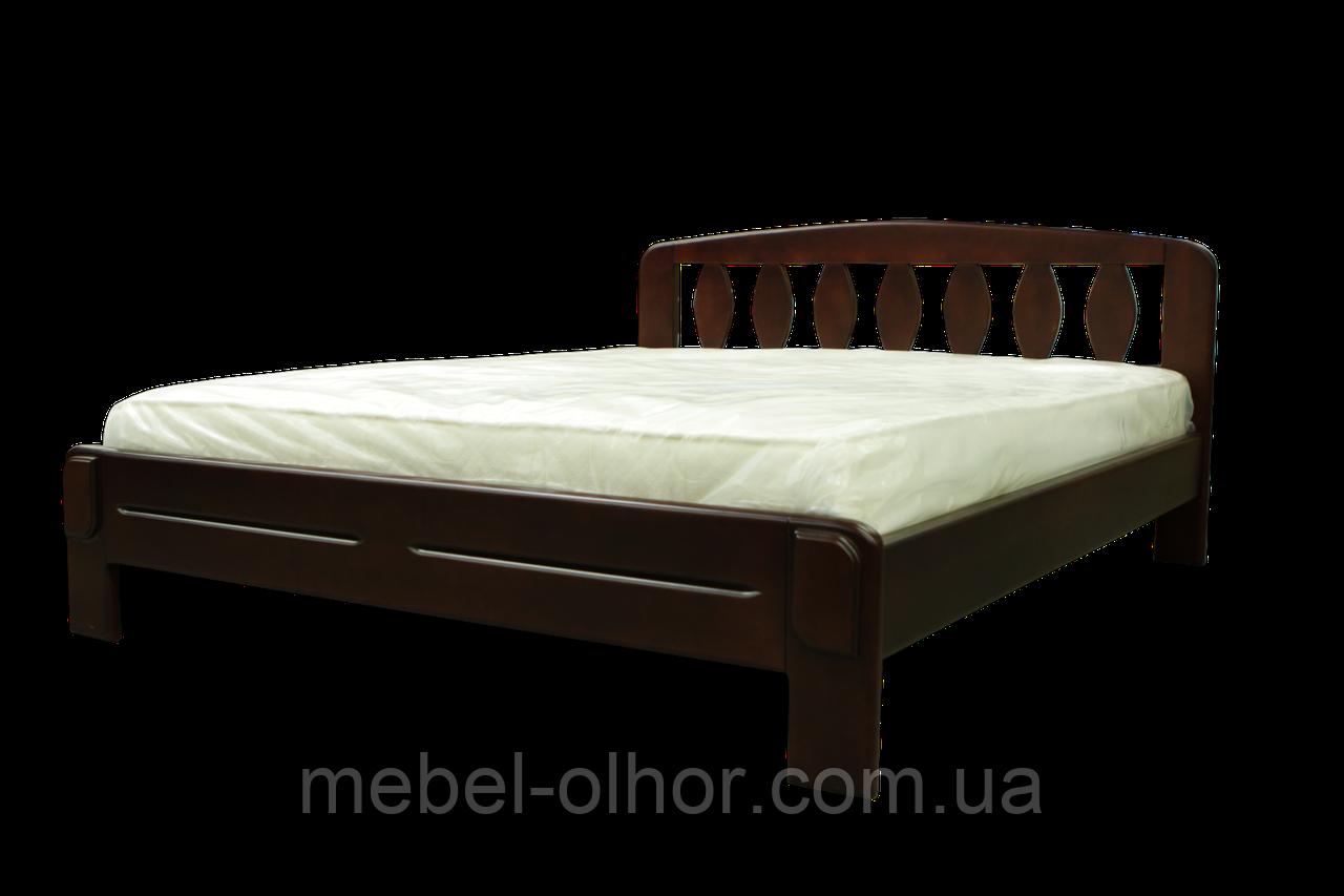 Деревянная кровать Лилия 160*200 в белом цвете