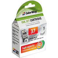 Картридж ColorWay CANON PG-37Bk iP-1800/2500 Bl. (ink level) (CW-CPG37-I) (код 556152)