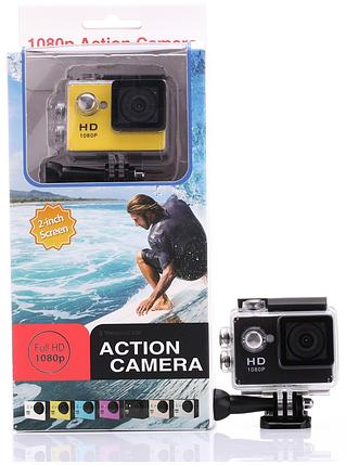 Экшн камера A7 FullHD аквабокс полный компект, фото 2