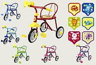 Велосипед детский 3-х колес 0202 Малятко, 6цветов,гвоздик