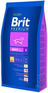 Корм для взрослых собак маленьких пород BRIT Premium «Adult S»3 кг