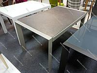 Стол обеденный  AF1076ADT akh, cтеклянная столешница с иммитацией искуственного камня