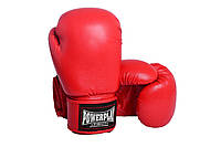 Перчатки для бокса 3004 красные 18 унций - 190055