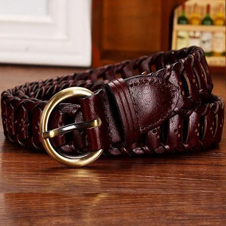 Женский кожаный ремень. Арт. 809