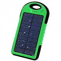 Влагозащищенный Solar Power Bank 40000 mAh на солнечной батарее Черно-зеленый
