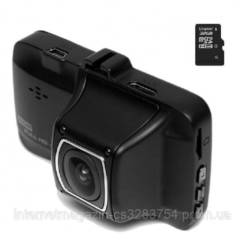 Видеорегистратор автомобильный DVR FullHD Black BOX + карта памяти 32GB