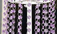 Акриловые кристаллы для декора и штор сиреневые