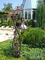 Кованые фонари в сад