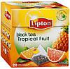 Чай Lipton Tropical Fruit (черный с тропическими фруктами в пирамидках) 20х1,8 г.