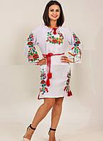 Вышитое платье с длинным рукавом Диана , фото 1