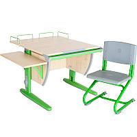 """Набор школьной мебели """"Дэми"""" СУТ.14-02 клен/зеленый со стулом"""