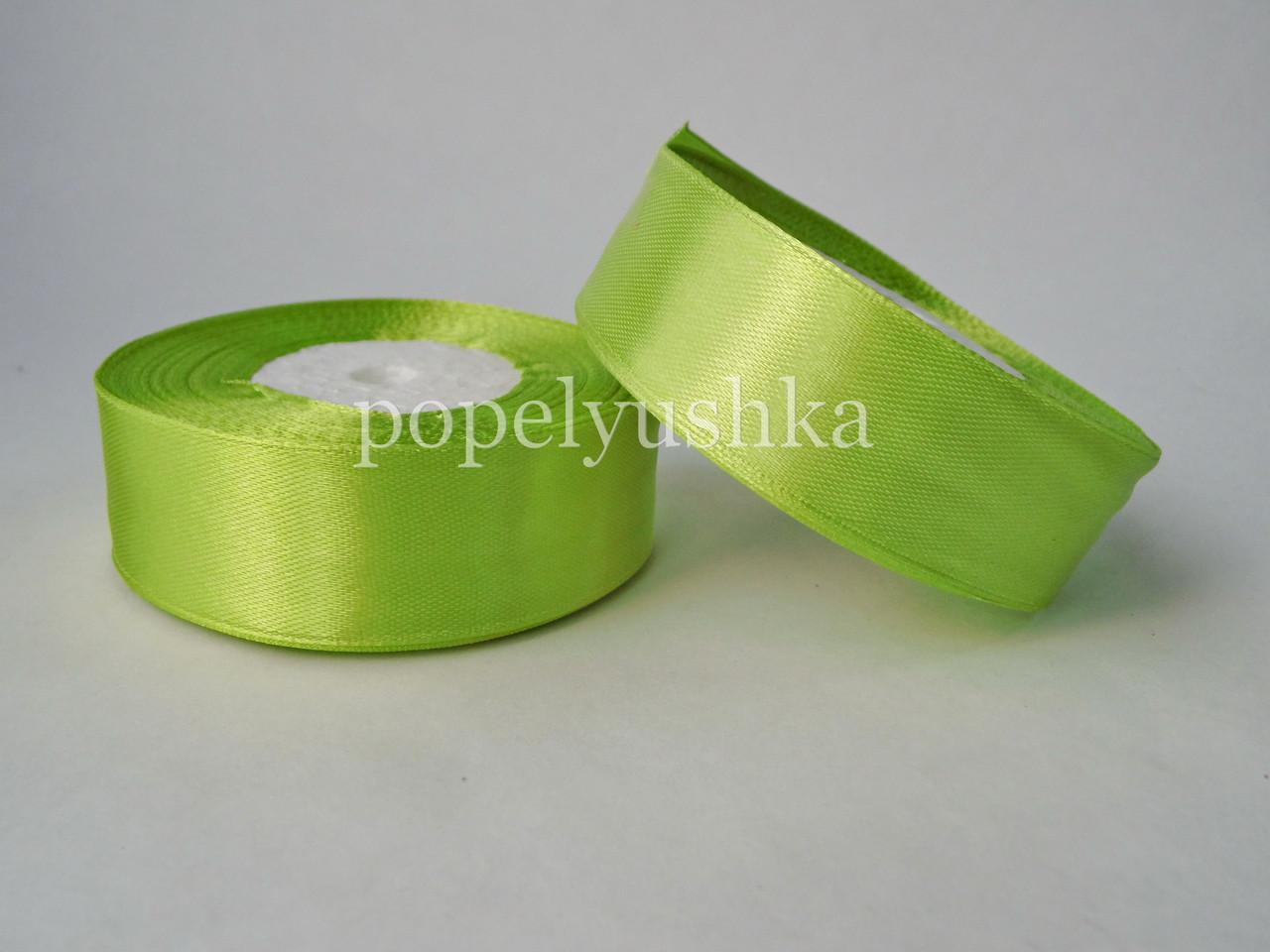 Стрічка атласна 2,5 см світло-оливкова