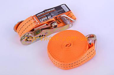 Ремень стяжной с натяжным механизмом 1500кг, оранжевый   LVT