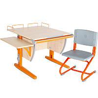 """Набор школьной мебели """"Дэми"""" СУТ.14-02 клен/оранжевый со стулом"""