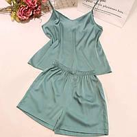 """Шелковый женский комплект-пижама """"SILK"""" с топом (4 цвета)"""