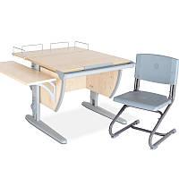 """Набор школьной мебели """"Дэми"""" СУТ.14-02 клен/серый со стулом"""