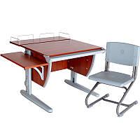"""Набор школьной мебели """"Дэми"""" СУТ.14-02 яблоня/серый со стулом"""