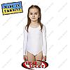 Купальник для танцев и гимнастики белый. Размеры: L (рост 134-146см), ХL (рост 146-158 см)