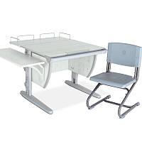 """Набор школьной мебели """"Дэми"""" СУТ.14-02 серый/серый со стулом"""