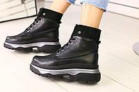 Ботинки Balenciaga женские черные кожаные на низком ходу, фото 1