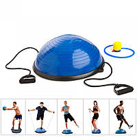 Балансировочная подушка полусфера (платформа) для фитнеса (гимнастики) OSPORT BOSU 60см (MS 2609)
