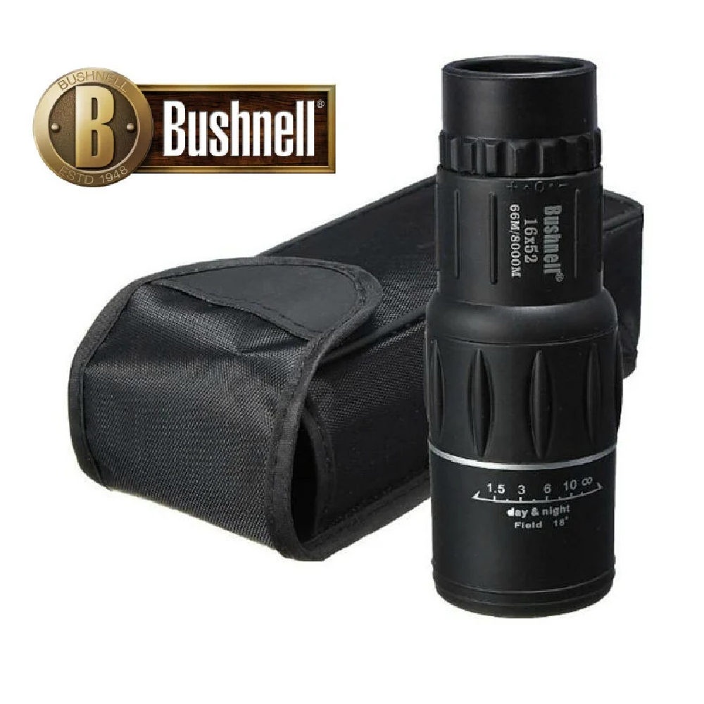 Качественный Монокуляр BUSHNELL 16x52 Увеличение - 16x + чехол + салфетка для линз