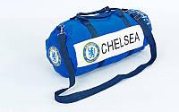 Сумка для тренировок с символикой футбольного клуба CHELSEA, PL, р-р 53х25см., синий (GA-5633-3)