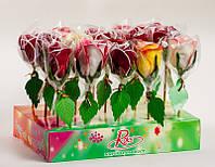 Леденцы на палочке Роза, 70 грамм 15 шт (Roks)