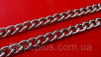 Цепь декоративная для сумок 15*10 мм серебро