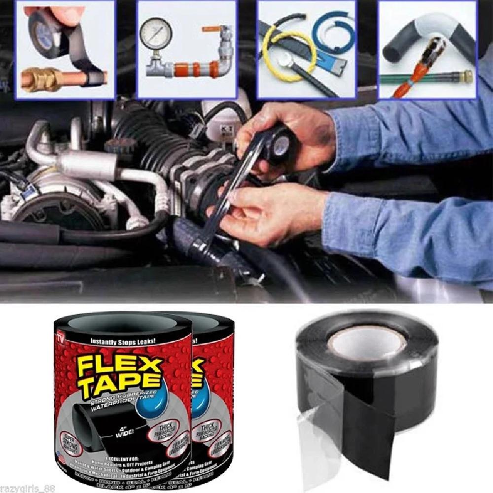Сверхсильная клейкая лента Flex Tape (Флекс Тайп), супер скотч, скотч флекс, прочный скотч, прочная изолента