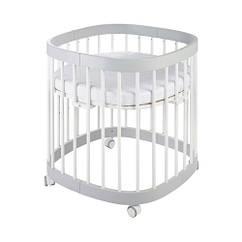 Кроватка 7в1 Tweeto белый/серый