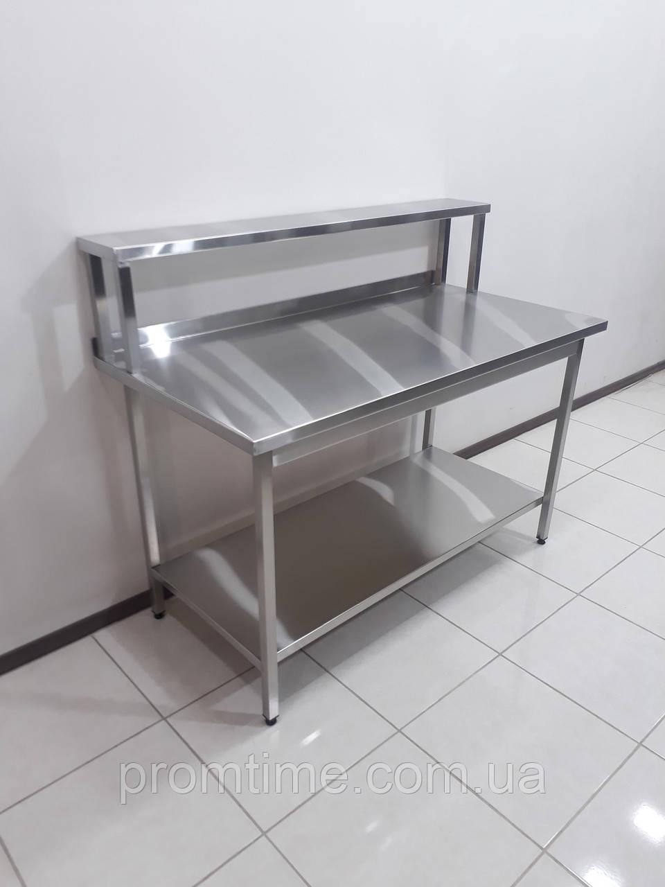 Стол производственный c полкой-надстройкой 1400х700х1150