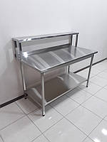 Стол производственный c полкой-надстройкой 1400х700х1150, фото 1