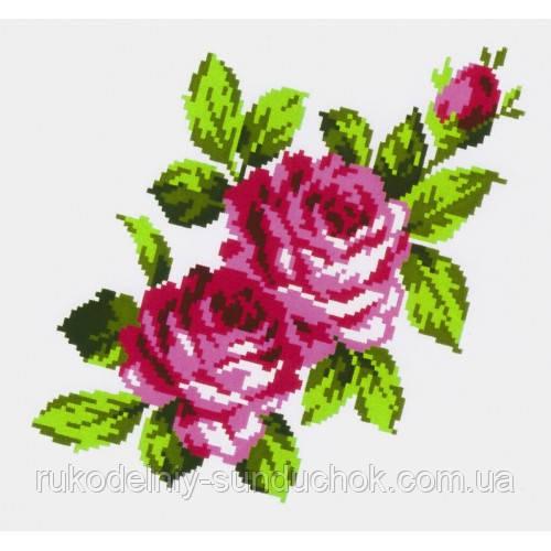 """Водорастворимый флизелин с рисунком """"Confetti"""" (K 296 Букет роз)"""