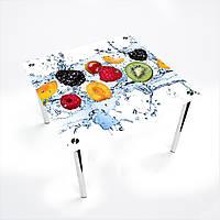 Стол обеденный на хромированных ножках Квадратный Berry Mix