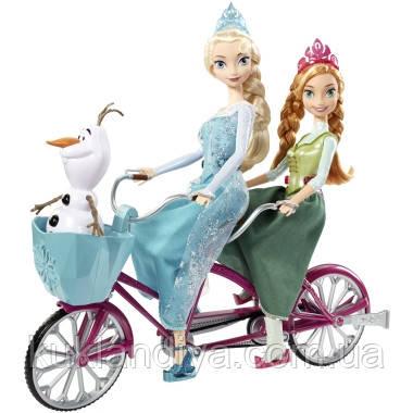 Анна и Эльза на музыкальном велосипеде от Маттел