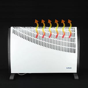 Конвектор А-Плюс 1987, обогреватель 2000Ват, 3 режима ( 750/1250/2000 Вт ) до 22 м², фото 2