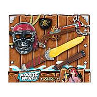 Детский игровой набор пирата с оружием, маска, пистолет, меч, аксессуары,B6638-3
