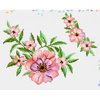 """Водорастворимый флизелин с рисунком """"Confetti"""" (K 297 Чайная роза)"""