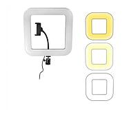 Квадратная селфи лампа D35 с держателем для телефона