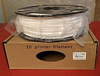 PLA пластик для 3D печати,1.75 мм, 1 кг Белый