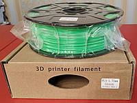PLA пластик для 3D печати,1.75 мм, 1 кг Зеленый